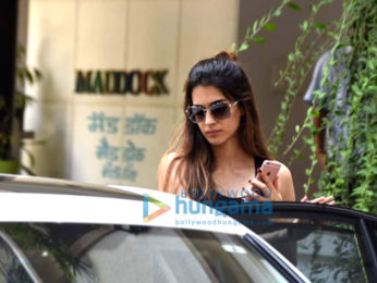 Sushant Singh Rajput and Kriti Sanon snapped post their meeting at Maddock's office