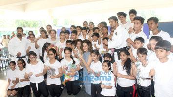 Taapsee Pannu visits her school Mata Jai Kaur Public School in Delhi