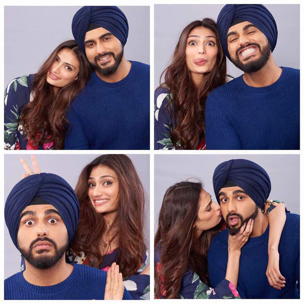 The sizzling chemistry between Arjun Kapoor and Athiya Shetty results in a spontaneous photoshoot for Mubarakan