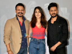Vivek Oberoi, Ritiesh Deshmukh and Rhea Chakraborty snapped at 'Bank Chor' promotions