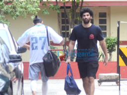 Aditya Roy Kapoor and Rhea Chakraborty snapped post their gym session in Bandra