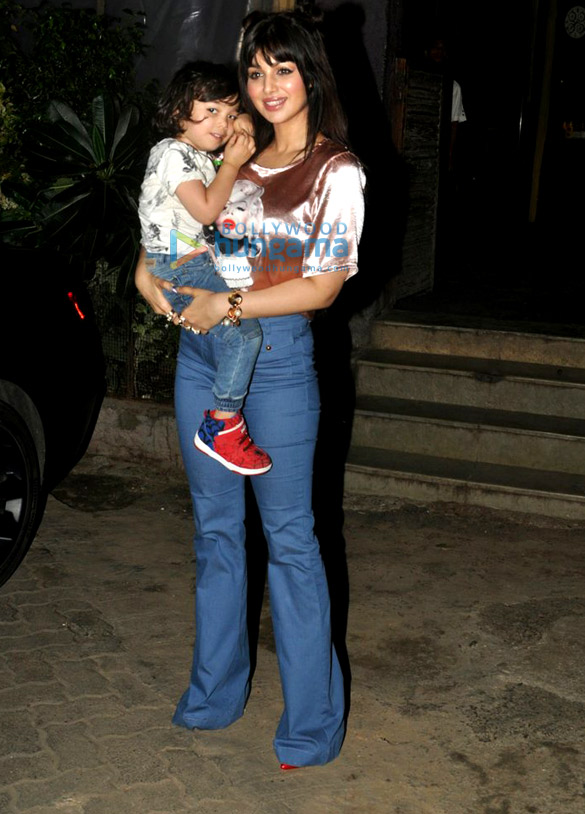 Ayesha Takia snapped with her cute kid in Andheri