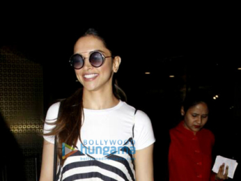 Gorgeous Deepika Padukone snapped while arriving from Bangalore