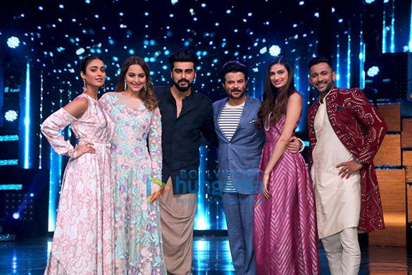 Film promotions of 'Jagga Jasoos' and 'Mubarakan' on the sets of 'Nach Baliye'