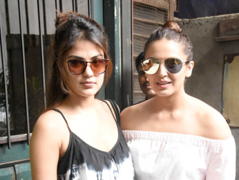 Huma Qureshi and Rhea Chakraborty snapped at Pali Village Cafe