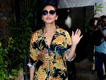 Huma Qureshi snapped post her meeting at Pali Village Café