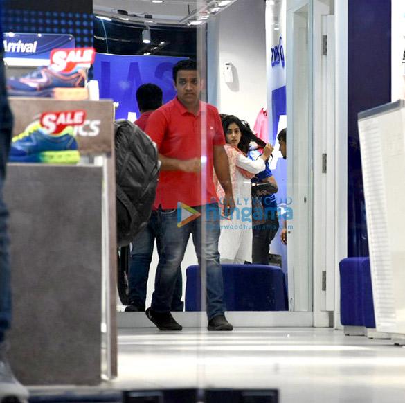 Jahnavi Kapoor snapped shopping in Bandra