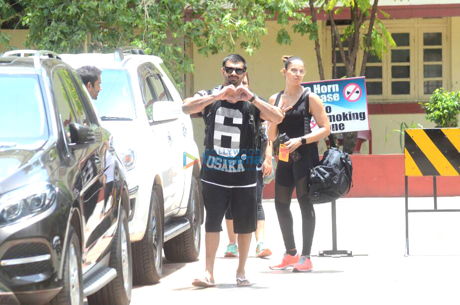 Karan Singh Grover and Bipasha Basu snapped post their gym sessions