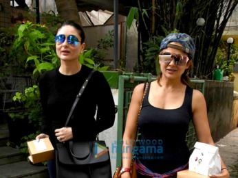 Kareena Kapoor Khan and Amrita Arora snapped post lunch at The Village Shop