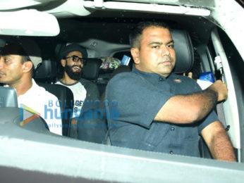 Ranveer Singh and Arjun Kapoor snapped post Shanoo Sharma's birthday bash at BSE Juhu