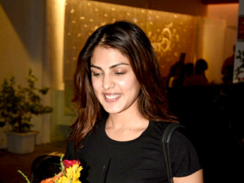 Rhea Chakraborty snapped post her meeting at Sequel
