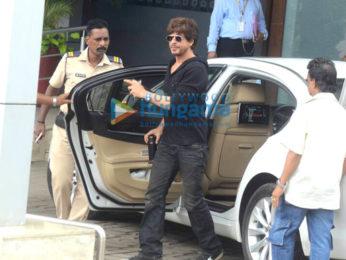 Shah Rukh Khan and Imtiaz Ali snapped leaving to promote their film 'Jab Harry Met Sejal' in Ahmedabad