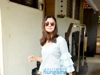 Sidharth Malhotra and Alia Bhatt snapped post their meeting at Matrix's office in Bandra
