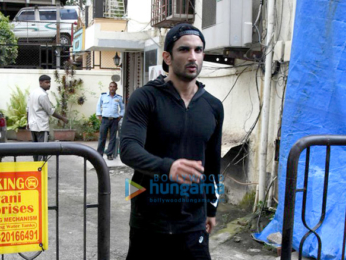 Sushant Singh Rajput snapped post a meeting in Bandra