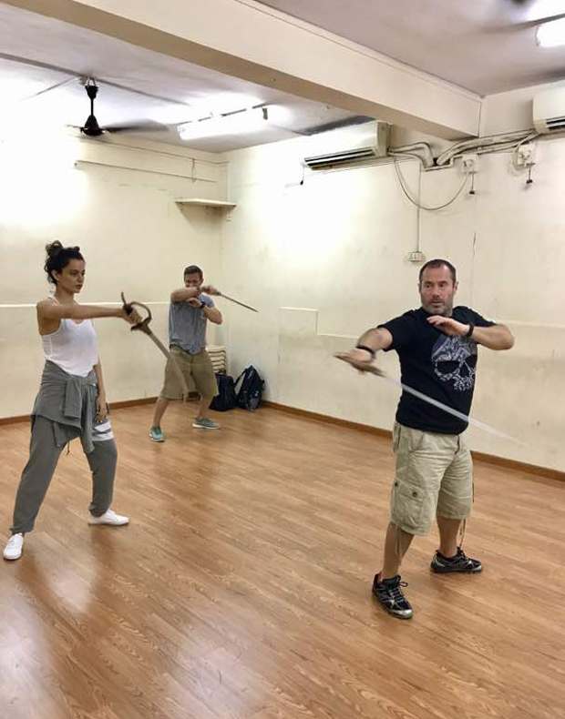 This picture of Kangna Ranaut practicing sword fighting will prove that she is the 'queen' truly