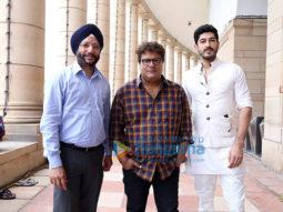 Tigmanshu Dhulia, Mohit Marwah and Gurdeep Singh Sappal launch the trailer of 'Raag Desh' at the Parliament of India