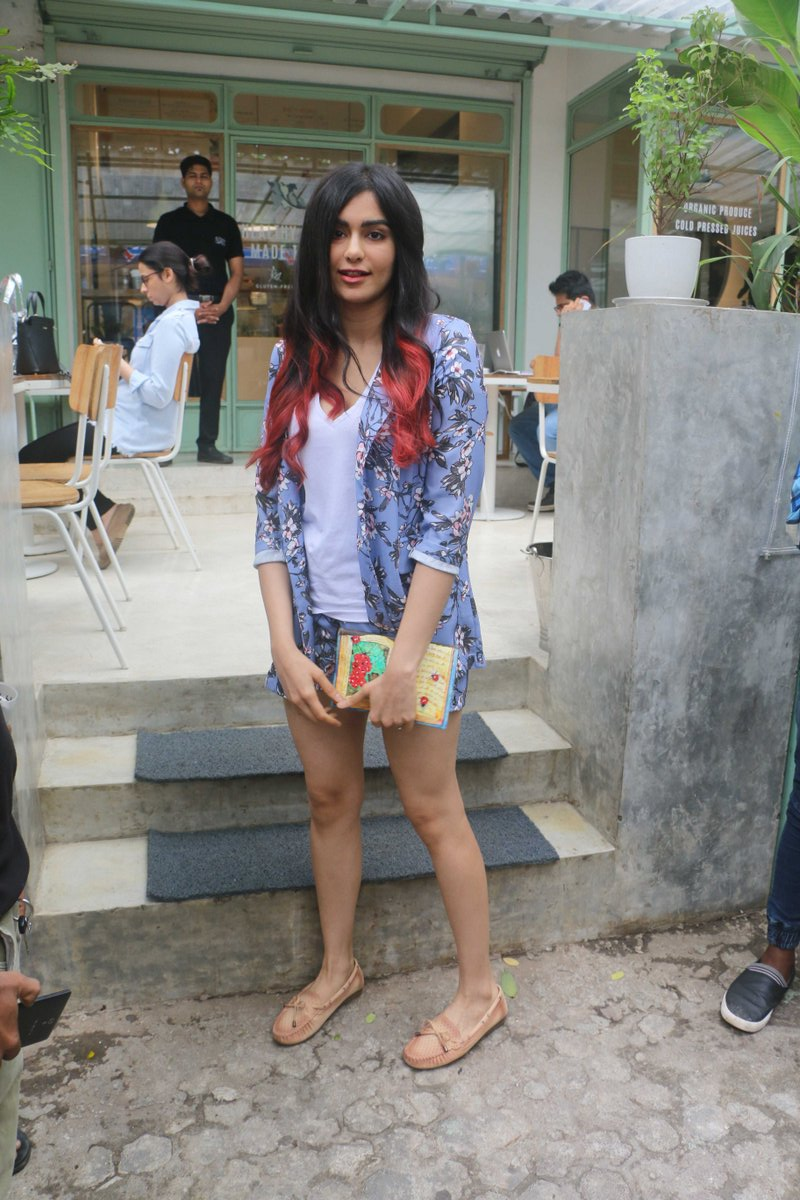 Adah Sharma snapped at Kitchen Garden