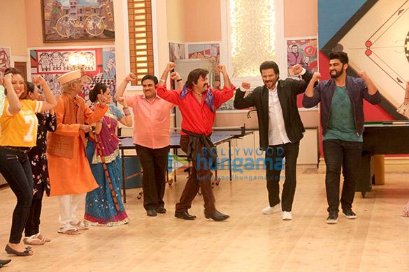 Anil Kapoor and Arjun Kapoor promote 'Mubarakan' on the show Taarak Mehta Ka Ooltah Chashmah