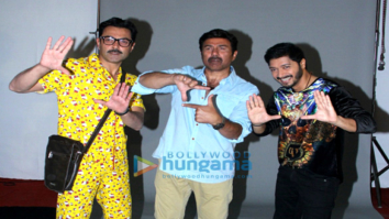 Bobby Deol, Sunny Deol and Shreyas Talpade spotted during promotional photoshoot for 'Poster Boys'-