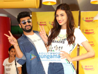 Promotions of the film 'Mubarakan' at Radio Mirchi 98.3 FM's office