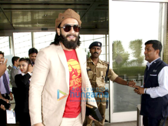 Ranveer Singh and Urvashi Rautela snapped at the airport