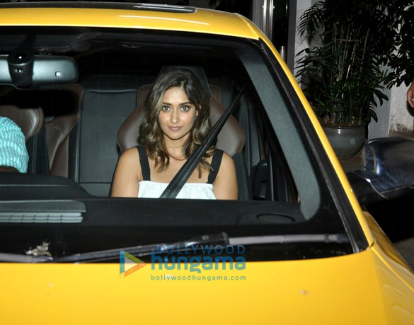 Ranveer Singh and Ileana D'Cruz snapped at Sunny Super sound post dubbing