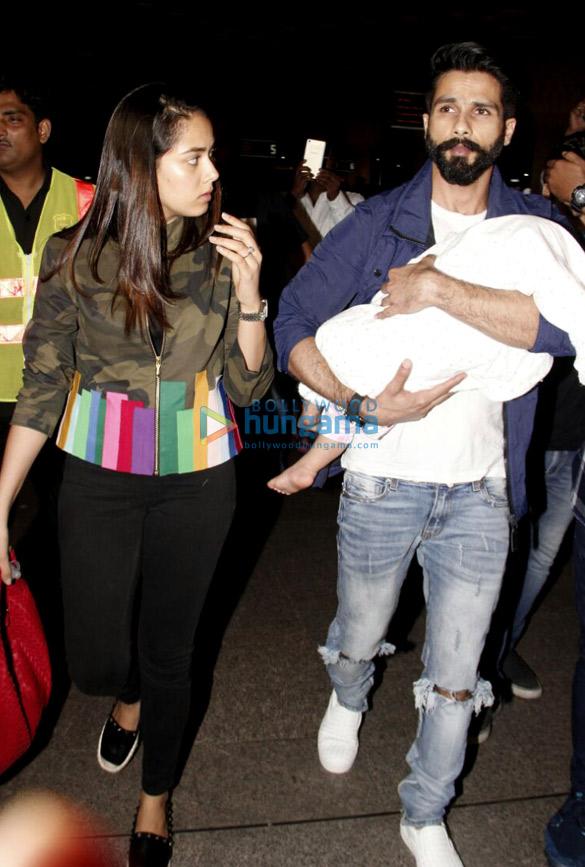 Shahid Kapoor, Mira Rajput and Misha depart for IIFA in New York