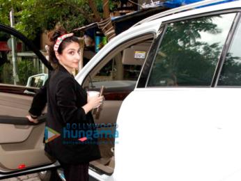 Soha Ali Khan snapped at The Kitchen Garden