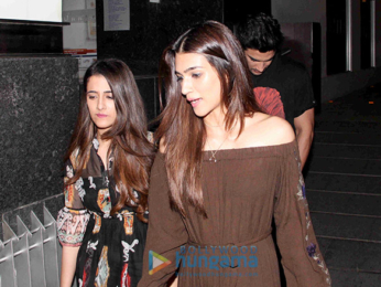 Sushant Singh Rajput, Kriti Sanon and her sister snapped post dinner at Hakkasan