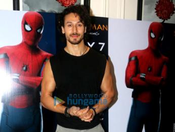 Tiger Shroff and Disha Patani snapped at 'Spider-Man Homecoming' screening