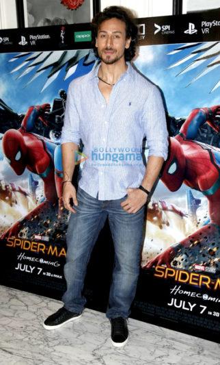 Tiger Shroff graces 'Spider-Man Homecoming' screening in Bandra