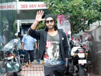 Ranveer Singh snapped post gym