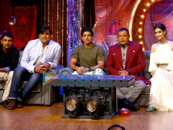 Farhan Akhtar and Diana Penty promote 'Lucknow Central' on Drama Company