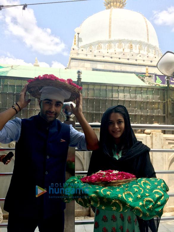 Aadar Jain and Anya Singh visit Ajmer Sharif Dargah