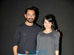 Aamir Khan, Kiran Rao & Zaira Wasim at the first look launch of 'Secret Superstar'