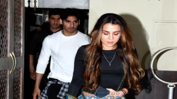 Ahan Shetty snapped with girlfriend Tania Shroff at Bastian