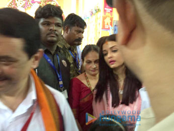 Aishwarya Rai Bachchan and Sachin Tendulkar family visits the GSB Ganesha in Wadala