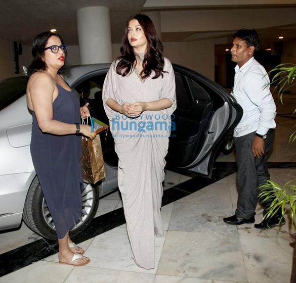 Aishwarya Rai Bachchan arrives at Sridevi's birthday bash