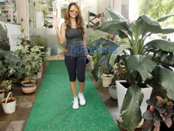 Amrita Arora snapped post a salon session in Bandra