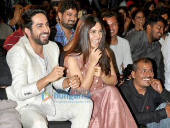 Ayushmann Khurrana and Bhumi Pednekar launch the first look of the film 'Shubh Mangal Saavdhan'