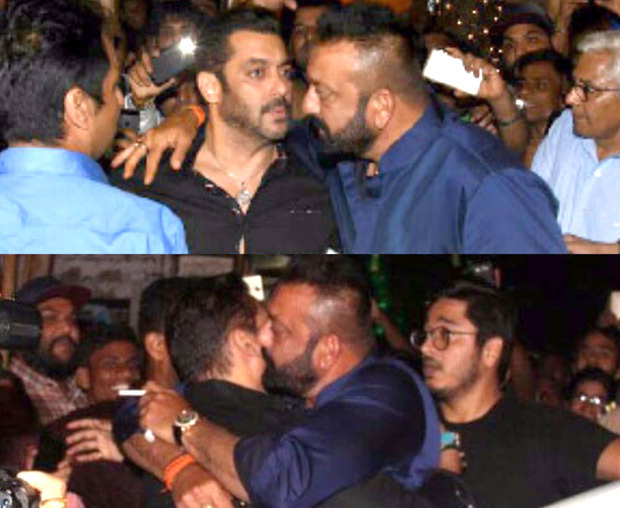 BHAI MEETS BABA Salman Khan and Sanjay Dutt hug it out during Ganpati celebrations at Ambani residence (3)
