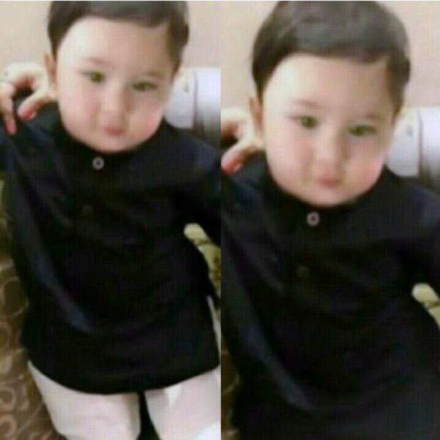 CUTIE ALERT Saif Ali Khan and Kareena Kapoor Khan's son Taimur Ali Khan looks like a Prince in this photo!