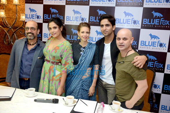 Cast of the film Jia Aur Jia grace the media meet for the film in New Delhi
