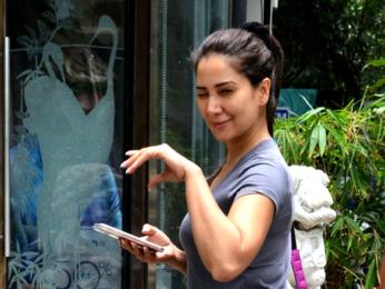 Hottie! Kim Sharma snapped in Bandra today