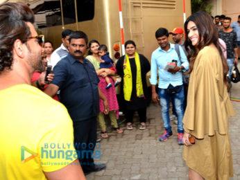 Hrithik Roshan and Ayushmann Khurrana snapped at Mehboob Studio