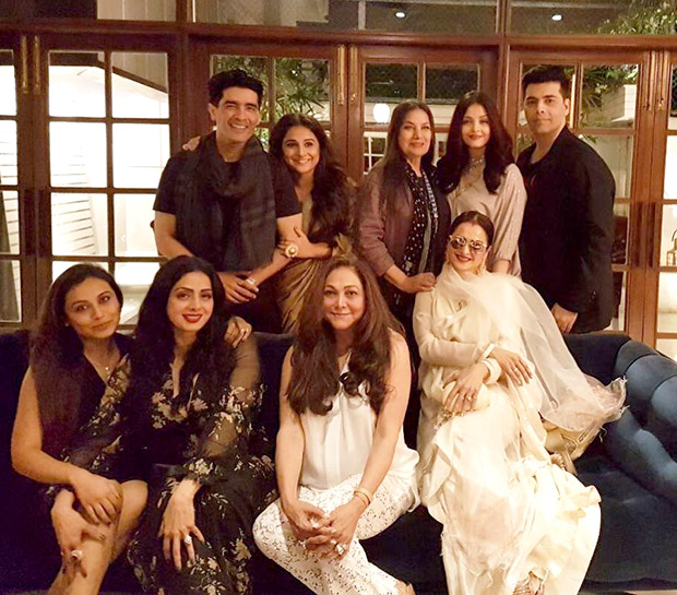 INSIDE PHOTOS Aishwarya Rai Bachchan, Vidya Balan, Rekha, Rani Mukerji, Shabana Azmi come to together for Sridevi's birthday celebrations! (1)