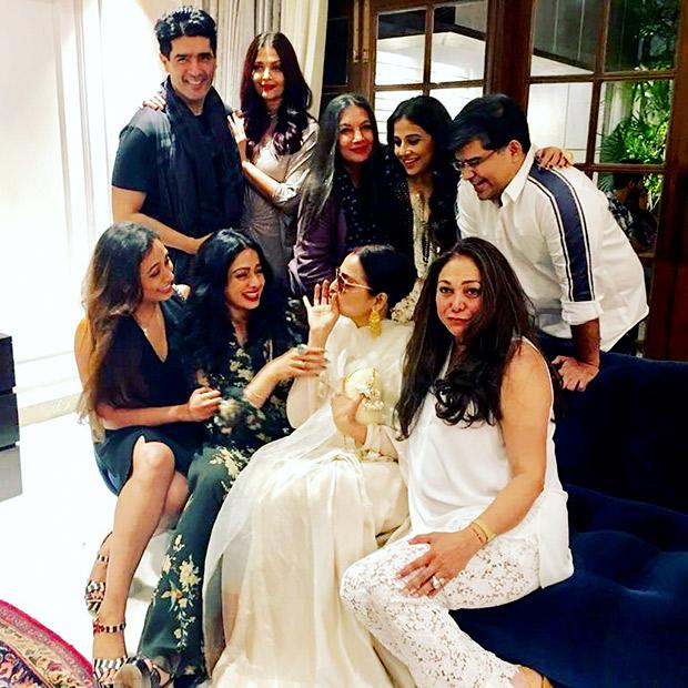 INSIDE PHOTOS Aishwarya Rai Bachchan, Vidya Balan, Rekha, Rani Mukerji, Shabana Azmi come to together for Sridevi's birthday celebrations! (5)