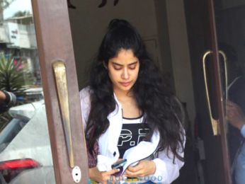 Jahnavi Kapoor snapped at Bastian in Bandra