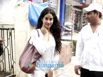 Jhanvi Kapoor snapped in Bandra post her dance practice