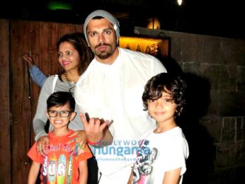 Karan Singh Grover snapped post dinner at Indigo